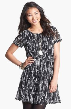 dee elle 'Milly' Chiffon Skater Dress (Juniors) available at #Nordstrom
