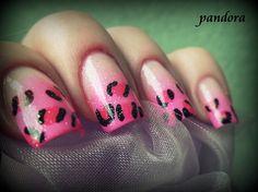 Pink leopard by pandora_nails - Nail Art Gallery nailartgallery.nailsmag.com by Nails Magazine www.nailsmag.com #nailart