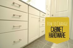 How to Change Cabinet Hardware.  Easy way to update a bathroom!