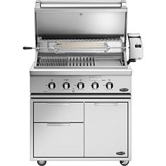 Dcs Heritage 36inch Freestanding Natural Gas Grill With Infrared Burner Kit  Griddle On Dcs Cad Cart  Bh136rgin -- Click image for more details. (This is an affiliate link) #GrillsOutdoorCooking