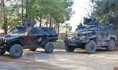 Turkish Nurol Ejder and Otokar Cobra 4x4 wheeled armored combat vehicle apc with remote control turret IFV