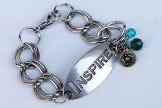 Inspire metal bracelet by RusticLodgeDecor on Etsy, $19.95