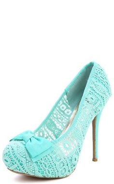 Something blue, and lace shoes!