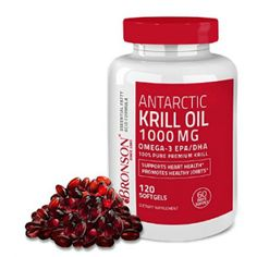 Bronson Antarctic Krill Oil 1000 mg with Astaxanthin, Omega 3 Supplement 120 Softgels Biotin Benefits, Omega Oils, Omega 3, Healthy Cholesterol Levels, Krill Oil, Holistic Remedies, Essential Fatty Acids, Natural Supplements, Fish Oil