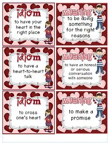 {Heart-y Idioms} A freebie game for idioms with a Valentine's Day theme!