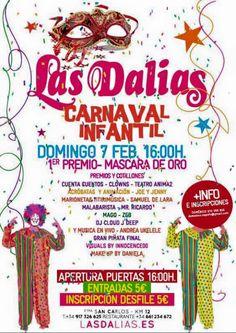 Carnaval infantil en Las Las Dalias de Ibiza maña domingo. Hoy, mercadillo como todos los sábados del año. Carnival party for children tomorrow in Las Dalias. Today, hippy market as every saturday.