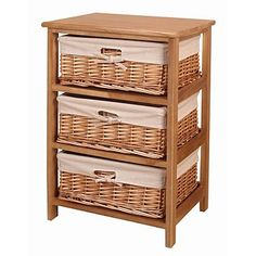 Natural 'Wood and weave' three drawer chest - Was £120 - Storage - Furniture - Home & furniture -