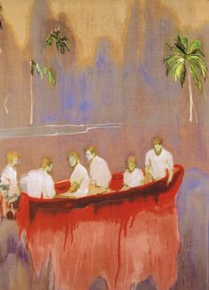 Figures in Red Boat  Peter Doig