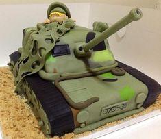 Birthday Army Tank Cake Cake by MariaStubbs Army Tank Cake, Army Cake, Military Cake, Army Birthday Cakes, Army Birthday Parties, Army's Birthday, Fondant Cakes, Cupcake Cakes, Cupcakes