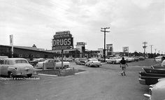 1957 – Walgreens on in Sunny Isles with the Gould Motel in the background - Amazing Midcentury Photographs of Miami Page 2 of 2 Best of Web Shrine Miami Photos, Old Images, Motel, Over The Years, Sunnies, Fountain, Restoration, Florida