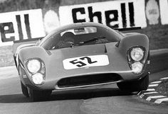Paul Hawkins in his Lola T70 that he campaigned in Sportscar racing in 1969. He crashed fatally in the car at the TT at Oulton Park.