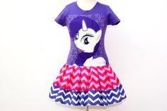 girls dress My Little Pony Rarity Dark Purple by GerlieCreations