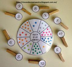 Rincón de una maestra: Ruleta de los números