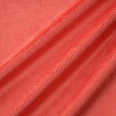 X*150- 16,4- Tissu minky ultra doux rose pastèque ras