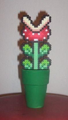 Nintendo Super Mario Piranha Plant Perler Bead Sprite. $10.00, via Etsy.