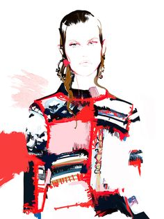 Fashion illustration_McQueen*SS17 on Behance
