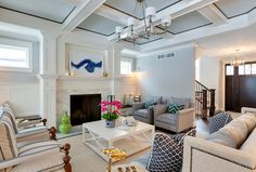 Walls: Silver Chain 1472; cabinet & trim: White Dove OC-17; ceiling: Lookout Point 1646. All paint by Benjamin Moore.