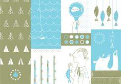 Colaboración a 2 tintas de Lydia Nichols (Philadelphia) para la revista de ilustración Ferocious Quarterly
