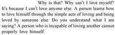 quote about love or something