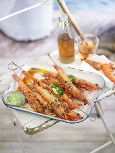 Summer seems to still be lingering so take advantage of the warm weather and try these delicious Garlic Prawn skewers with chive butter and lime salt. They are part of our Seafood Summer Story.  For the recipe see http://www.inourkitchen.com.au/?s=prawn