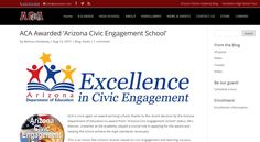 Our school was once again awarded the Arizona Civic Engagement award!