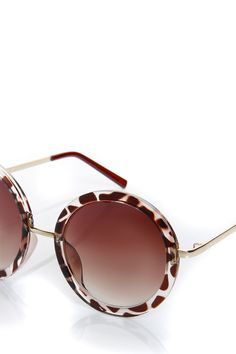 Melissa Leopard Retro Sunglasses