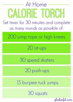 At Home Calorie Torch Workout