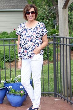IndieSew's Lou Box Top in Mood Fabrics' floral cotton sateen