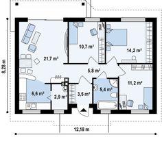 proiecte de case mici pe un singur nivel Small single level house plans 3
