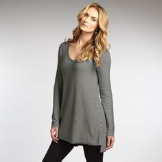 Embellished V Knit Tunic