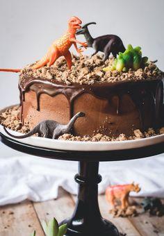 Ganache au chocolat pour gateau ganache chocolat pour gateau anniversaire enfant qui aime les dinosaures décoration mignonne