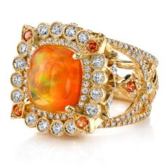 Fire Opal ring by Erica Courtney