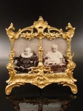 early antique VICTORIAN bronze PICTURE - PHOTO FRAME firegildet ca1860-80 GERMAN