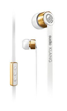 Sudio Klang white and gold headphones