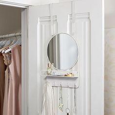 Over The Door Mirror With Storage #pbteen