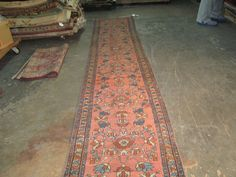 Antique Persian Lilihan Malayer Hand Knotted Wool Long Rug 2 5 x 16 Runner