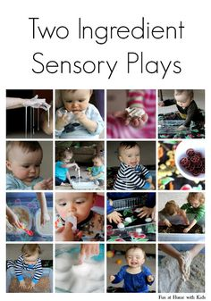 10+ Super Easy Sensory Plays from Fun at Home with Kids