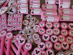 golosinas personalizadas candy bar minnie rosa