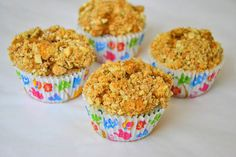 Banana, Peanut Butter and Chocolate Chip Healthy Muffins