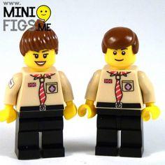 LEGO scout leader minifigure