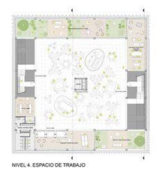 Primer Lugar Concurso Internacional Globant Iconic Building,Planta Tipo Nivel 4
