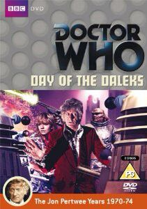 96). Day of the Daleks. Starring Jon Pertwee as the Doctor, Katy Manning as Jo and Nicholas Courtney as the Brigadier with John Levene as Benton and Richard Franklin as Mike Yates