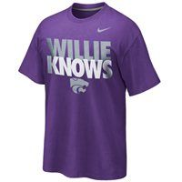Nike Kansas State Wildcats Willie Knows T-Shirt - Purple Kansas State University, Kansas State Wildcats, Purple T Shirts, Sport Outfits, Casual Clothes, Nike, Sports, Cheer, Mens Tops