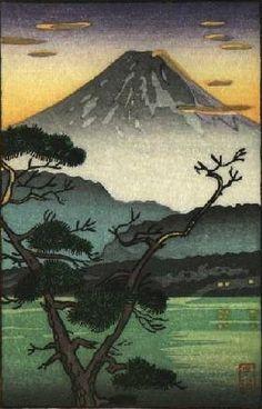 Evening at Lake Sai [Mt. Fuji], by Tsuchiya Koitsu, no date