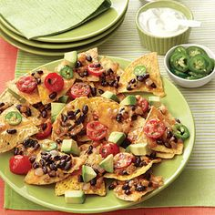 At only 240 calories a serving our Loaded Nachos won't load-up your waistline!