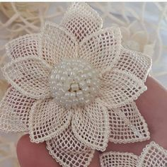 Ribbon Embroidery Flowers by Hand Crochet Doily Rug, Crochet Motifs, Crochet Flower Patterns, Crochet Flowers, Diy Embroidery Flowers, Ribbon Embroidery, Twine Flowers, Fabric Flowers, Burlap Crafts