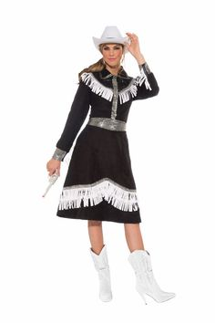 COWGIRL RODEO QUEEN ADULT HALLOWEEN COSTUME WOMENu0027S ONE SIZE STANDARD #FORUM #TopSkirt  sc 1 st  Pinterest & Celebrity Cowgirl Annie Oakley Girls Costume | 2015 Kids Costumes ...