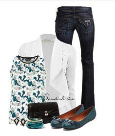 Vestir con un top con Flores - Outfits 12