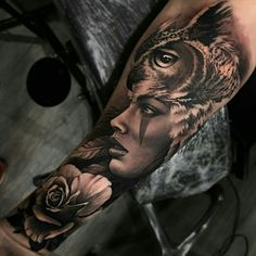 Tattoo done by: Matias Noble #buho #buhotattoo