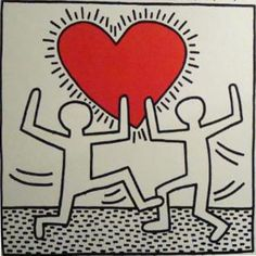 Keith haring valentine - Google Search